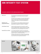AMI Integrity Test System - Innovative solutions for the pharmaceutical industry - 4