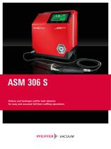 ASM 306 S - Helium and hydrogen sniffer leak detector - 1