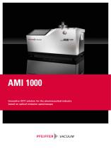 Innovative CCIT solution for the pharmaceutical industry based on optical emission spectroscopy - AMI 1000 - 1