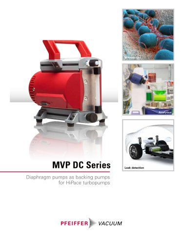 MVP DC Series - Diaphragm pumps as backing pumps for HiPace turbopumps