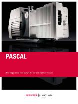 Pascal - Two-stage rotary vane pumps for low and medium vacuum - 1