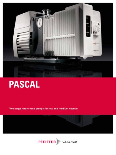 Pascal - Two-stage rotary vane pumps for low and medium vacuum