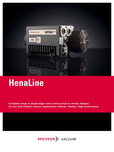 Single-stage rotary vane pumps - HenaLine