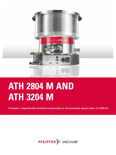 Turbopumps ATH 2804 M and ATH 3204 M - Compact, magnetically levitated turbopumps