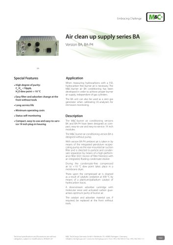 Air clean up supply series BA