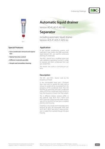 Automatic liquid drainer