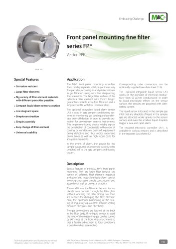 Front panel mounting fine filter series FP®