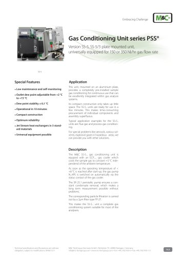 Gas Conditioning Unit series PSS®
