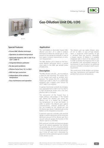 Gas-Dilution Unit DIL-1/(H)