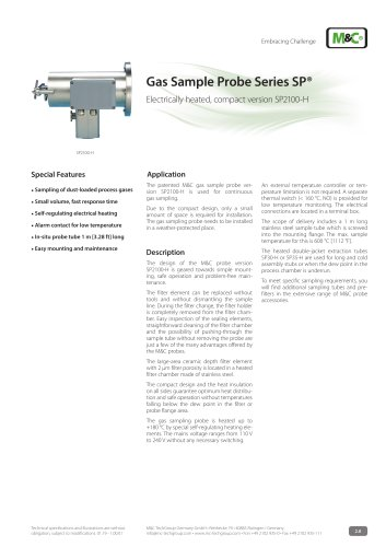 Gas Sample Probe Series SP® - Version SP2100-H
