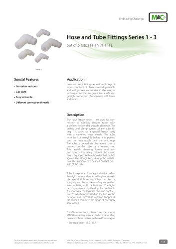 Hose and Tube Fittings Series 1 - 3