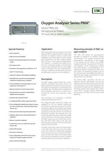 Oxygen Analyser Series PMA®