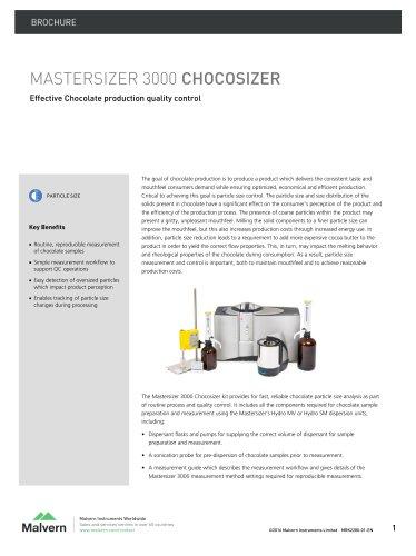 Mastersizer 3000 Chocosizer