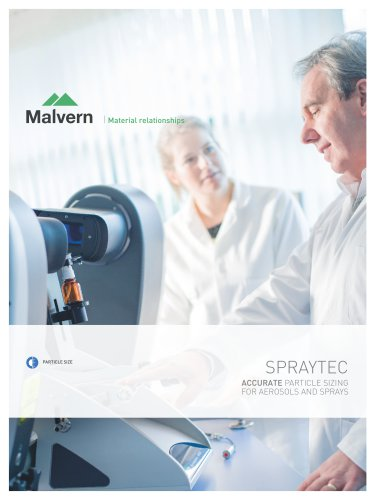 Spraytec - Accurate Particle Sizing For Aerosols and Sprays