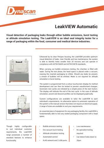 Dynascan LeakVIEW Automatic Technical Datasheet