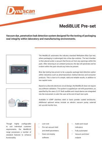 Dynascan MediBLUE Pre-Set Technical Datasheet