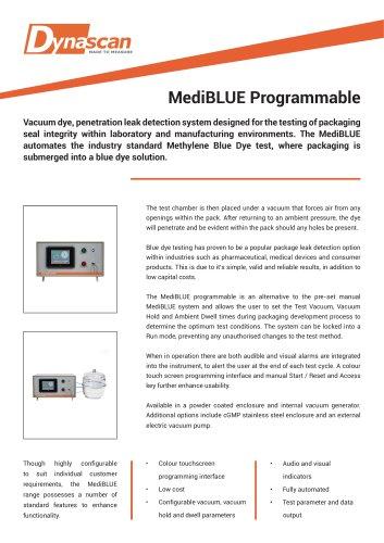 Dynascan MediBLUE Programmable Technical Datasheet