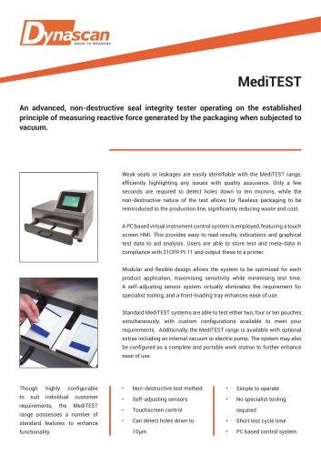 Dynascan MediTEST Technical Datasheet