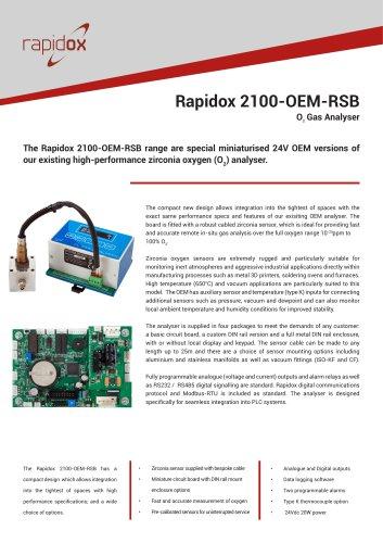 Rapidox 2100-OEM-RSB Technical Datasheet