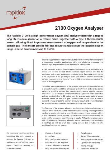 Rapidox 2100 Technical Datasheet
