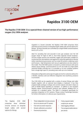 Rapidox 3100 OEM Technical Datasheet