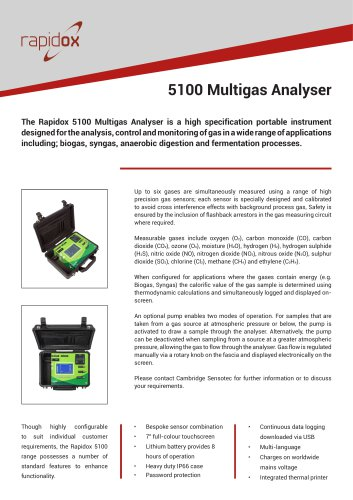 Rapidox 5100 Technical Datasheet