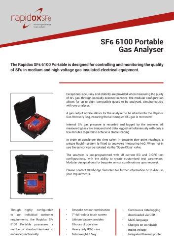 Rapidox SF6 6100 Portable Technical Datasheet