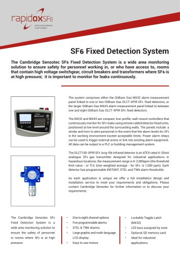 Rapidox SF6 Fixed Detection System