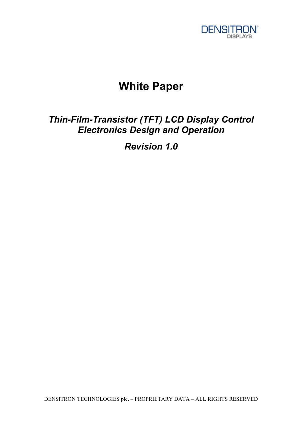 Thin Film Transistor Tft Lcd Display Control Electronics Design Latch Circuit Explained Electronic Projects And Operation 1 17 Pages