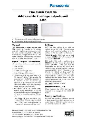 Addressable 2 voltage outputs unit 3364