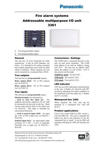 Addressable multipurpose I/O unit 3361