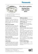 Analog base with isolator 4313 - 1