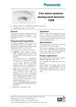 Analog heat detector 3308 - 1