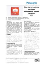 Enclosed addressable manual call point 3339 - 1