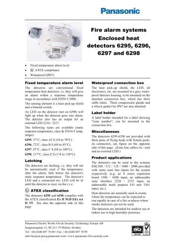 Enclosed heat detectors 6295, 6296, 6297 and 6298