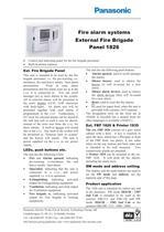 External Fire Brigade Panel 1826 - 1