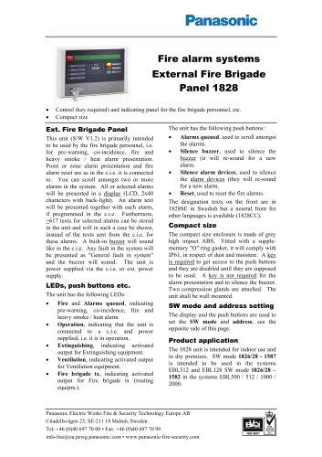 External Fire Brigade Panel 1828