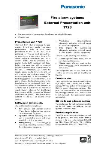 External Presentation unit 1728