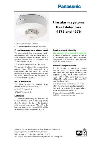 Heat detectors 4375 and 4376