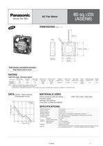 Panasonic ASEN series (AC fan motors) - 5