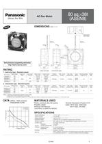 Panasonic ASEN series (AC fan motors) - 6