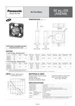 Panasonic ASEN series (AC fan motors) - 7