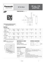 Panasonic ASFN series (DC fan motors) - 5