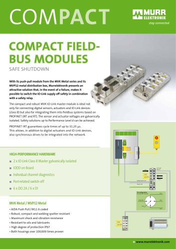 COMPACT FIELDBUS MODULES