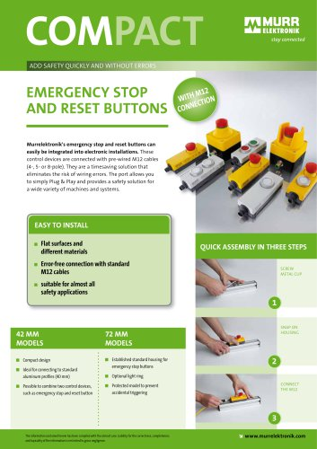 EMERGENCY STOP and RESET Buttons