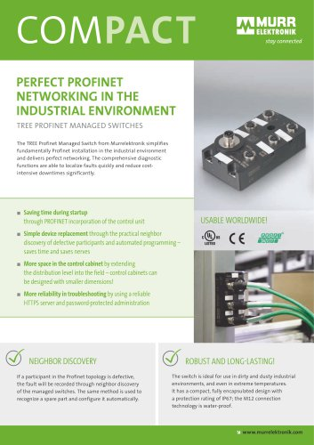 Tree Profinet Managed Switches