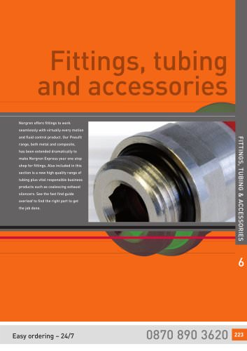Fittings, tubbing and accessories