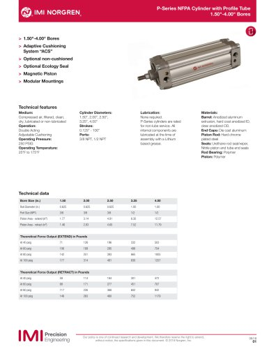 P-Series NFPA Cylinder