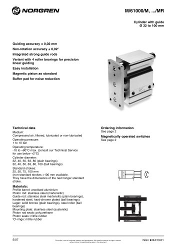 slides & guided actuators