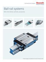 Ball rail systems Ball runner blocks, ball rails, accessories